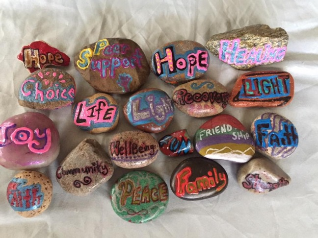 Positive Message Rocks